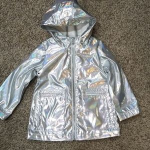 Metallic toddler rain coat